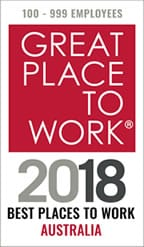 Great places to work 2018